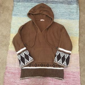 Brown Navajo Cable Knit Sweater Women's Medium